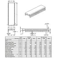 PIC16F1939-I/P PDIP-40 8-Bit 32MHz Mikrodenetleyici