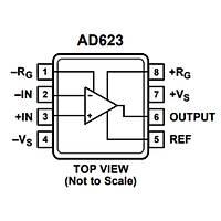 AD623AN Enstr黰antasyon Y黭selteci Entegresi Dip-8