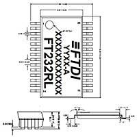 FT232RL Smd USB Arayüz Entegresi Ssop-28