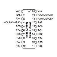 PIC16LF1508 I/SS Smd 8-Bit 20 MHz Mikrodenetleyici Ssop-20