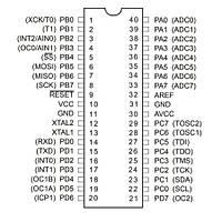 ATMEGA16A-PU 8-Bit 16MHz Mikrodenetleyici DIP-40