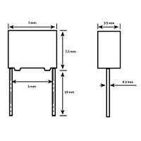 22nF 400Vdc 10% Polyester Kondansatör 5mm