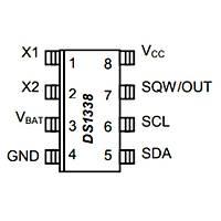 DS1338Z-33+ Smd RTC Gerçek Zaman Entegresi Soic-8