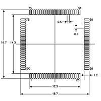 M30624FGAFP Smd 16-Bit 24MHz Mikrodenetleyici QFP-100