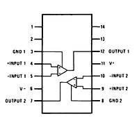 LM319N 11.5mA Komparatör Entegresi DIP14