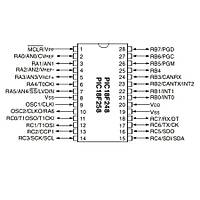 PIC18F258-I/SP 8-Bit 40Mhz Mikrodenetleyici Dip28
