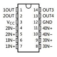 LM239AN Diferansiyel Komparatör Entegresi PDIP-14