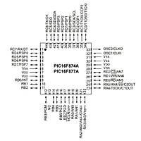 PIC16F877A I/PT SMD TQFP-44 8-Bit 20 MHz Mikrodenetleyici