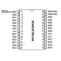 PIC18F25K22-I/SO SMD 8-Bit 64MHz Mikrodenetleyici SOIC-28