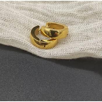 Çelik Halka Küpe / Gold (Ýnce Model)