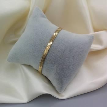 Çelik Ýtalyan Yassý Bileklik - Gold