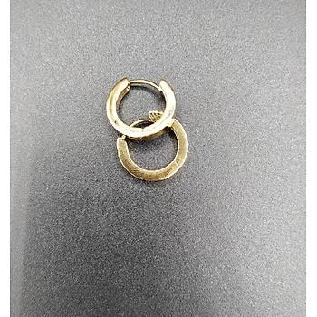 Çelik Halka Küpe / Gold Model
