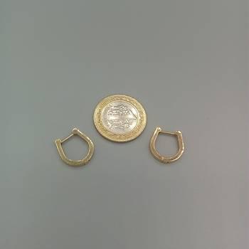 Nal Model Çelik Gold Küpe