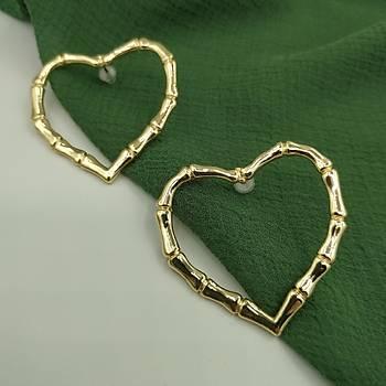 Kalp Model Gold Küpe