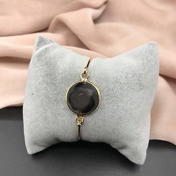 Kristal Taþlý Bileklik - Siyah