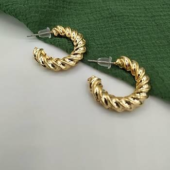 Burgulu Halka Küpe / Gold