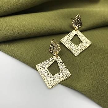 Geometrik Küpe Gold