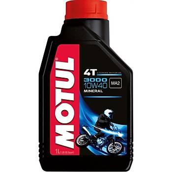 MOTUL 3000 10W40 4T Mineral Motosiklet Yaðý 1L