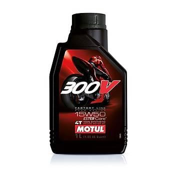 MOTUL 300V FL 15W50 4T Ester Core Motosiklet Yaðý 1L