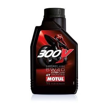 MOTUL 300V FL 5W40 4T Ester Core Motosiklet Yaðý 1L