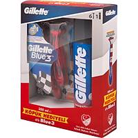Gillette Blue3 Milli Takým Özel Paketi 6'lý Týraþ Býçaðý + 200 ml Týraþ Köpüðü