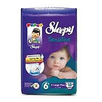 Sleepy Sensitive No 6+ X Large Plus Bebek Bezi 18 Adet