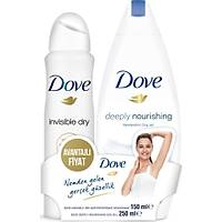 Dove Invisible Dry Kadýn Deodorant Sprey 150 ml + Duþ Jeli 250 ml