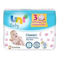 UNI BABY 3X56'LI ISLAK HAVLU