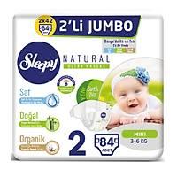 Sleepy Natural Jumbo Ýkili 2 Beden Mini Bebek Bezi 3-6 Kg 84 Adet
