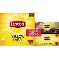Lipton Yellow Label 100'Lü + Yellow Label 20'Li + Earl Grey 20'Li Bardak Poþet Çay