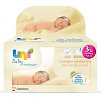 Uni Baby Yenidoðan Islak Pamuk Mendil Avantaj Paketi 3x40