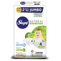 Sleepy Natural Bebek Bezi 4 Numara Maxi 2'LÝ JUMBO 60 Adet