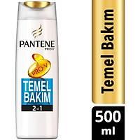 Pantene Temel Bakým 500 ml 2'si 1 Arada Þampuan ve Saç Bakým Kremi