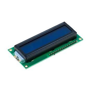 2x16 LCD Ekran - Mavi Üzerine Beyaz
