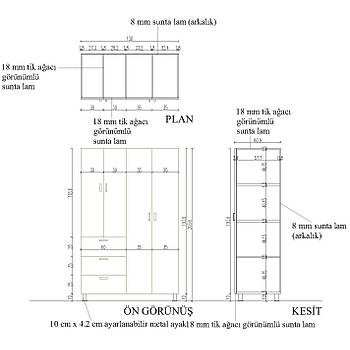 Depolama Ünitesi (60cm x 130cm x 204cm)
