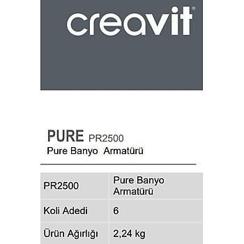 Creavit PR2500 Pure Banyo Armatürü Bataryasý