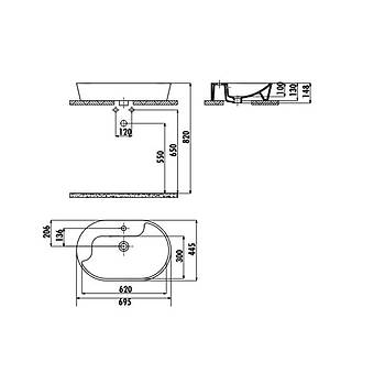 Creavit TP172 Set Üstü Lavabo 45X70 cm Beyaz