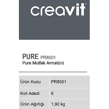 Creavit PR8501 Pure Mutfak Eviye Armatürü Bataryasý