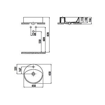 Creavit MN145 Set Üstü Lavabo 45 cm Beyaz
