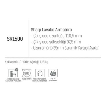 CREAVÝT SHARP LAVABO BATARYASI SR1500