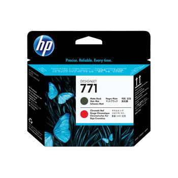 HP 771 Matte Black and Chromatic Red Designjet Printhead CE017A