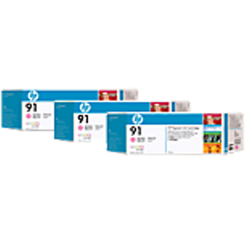 HP 91 Light Magenta Ink Cartridge 3-pack - 3 ink cartridges 775 ml each, not for individual sale C9487A