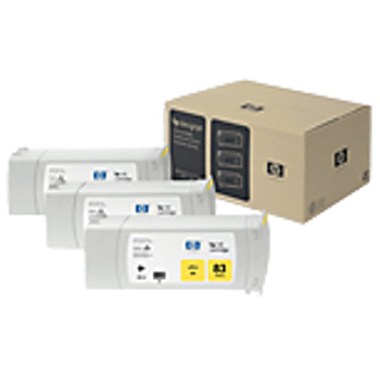 HP 83 UV Yellow Ink Cartridge 3-pack - 3 ink cartridges 680 ml each, not for individual sale C5075A
