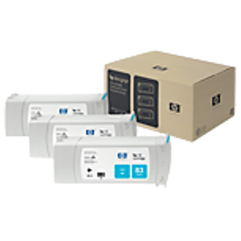 HP 83 UV Cyan Ink Cartridge 3-pack - 3 ink cartridges 680 ml each, not for individual sale C5073A