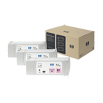 HP 81 Dye Light Magenta Ink Cartridge 3-pack - 3 ink crtgs. 680 ml each, not for individual sale C5071A