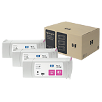 HP 81 Dye Magenta Ink Cartridge 3-pack - 3 ink cartridges 680 ml each, not for individual sale C5068A
