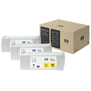 HP 81 Dye Yellow Ink Cartridge 3-pack - 3 ink cartridges 680 ml each, not for individual sale C5069A