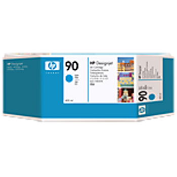 HP 90 Cyan Ink Cartridge 3-pack - 3 ink cartridges 400 ml each, not for individual sale C5083A