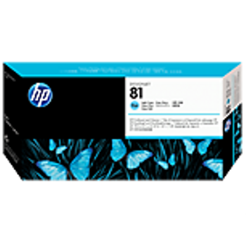 HP 81 Dye Light Cyan Printhead and Printhead Cleaner C4954A