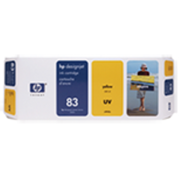 HP 83 680 ml UV Yellow Ink Cartridge C4943A